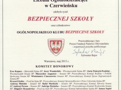 bezpieczna szkoła czerwieńsk
