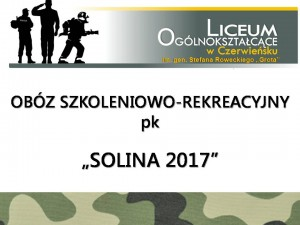 Obóz Solina 2017
